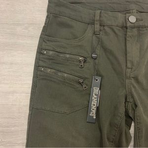 BlankNYC Army Green Ankle Length Jeans Size 28